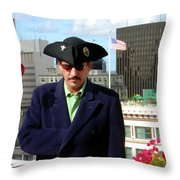 City Pirate Throw Pillow
