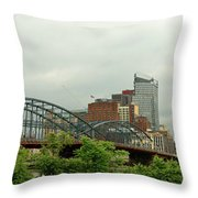 City - Pittsburgh Pa - The Grand City Of Pittsburg Throw Pillow