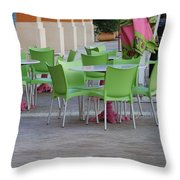 City Place Seats Throw Pillow
