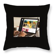 City Pulse - Dynamic And Resonsive Website Design Throw Pillow