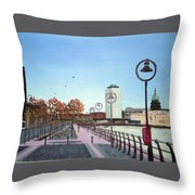 City Quay Campshires Throw Pillow