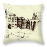 City Rendering Throw Pillow