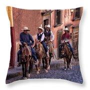 City Riding Throw Pillow