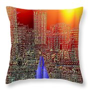 City Sailin Throw Pillow