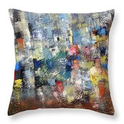 City Scape 3 Throw Pillow