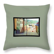 City Scape-dyptich Throw Pillow