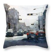City Shadows 2 Throw Pillow