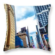 City Sights Nyc Throw Pillow
