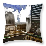 City Skies Throw Pillow