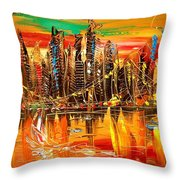 City Sky Throw Pillow