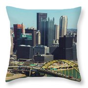 City Skyline-pittsburg Throw Pillow