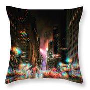 City Speed  Throw Pillow