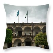 City Square Antigua Guatemala Throw Pillow