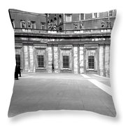 City Square Vintage Black And White  Throw Pillow