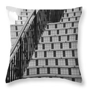 City Stairs II Throw Pillow