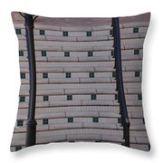 City Stairs Throw Pillow
