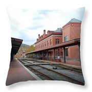 Cumberland City Station Throw Pillow
