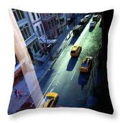 City Street Aerial New York Throw Pillow