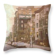 City Streets In Grunge 2 Throw Pillow