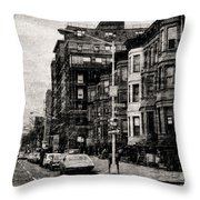 City Streets In Grunge Throw Pillow