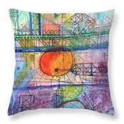 City Sunrise  Throw Pillow