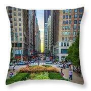 City Surreal Throw Pillow