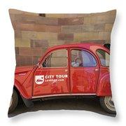 City Tour Car Strasbourg France Throw Pillow