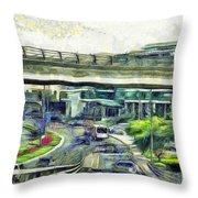 City Traffic Throw Pillow