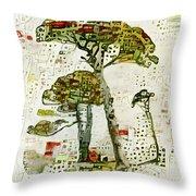 City Trees Throw Pillow