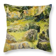 City View From The Sea Throw Pillow