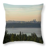 City View Of Vancouver And Burnaby Bc Throw Pillow