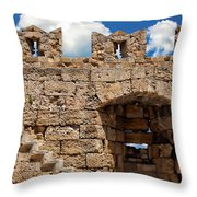 City Walls Of Rhodes Throw Pillow