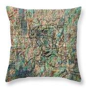 City Woman Throw Pillow