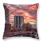 Citygarden Gateway Mall St Louis Mo Dsc01485 Throw Pillow