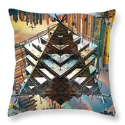 Cityline Abstract IIi Throw Pillow