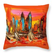 Cityny Throw Pillow