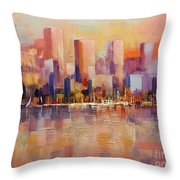 Cityscape 2 Throw Pillow by Rosario Piazza