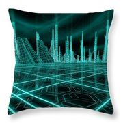 Cityscape 2010 Alpha Throw Pillow