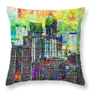 Cityscape Art City Optimist Throw Pillow