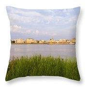 Cityscape Of Antwerp Throw Pillow