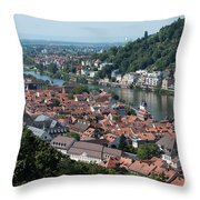 Cityscape  Of Heidelberg In Germany Throw Pillow