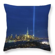 Cityscape Tribute In Lights Nyc Throw Pillow