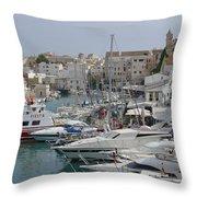 Ciutadella Marina Throw Pillow