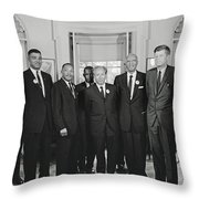 Civil Rights Leaders And President Kennedy 1963 Throw Pillow