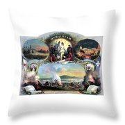Civil War 14th Regiment Memorial Throw Pillow