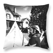 Civil War At The Lincoln Cottage Throw Pillow