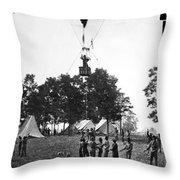 Civil War: Balloon, 1862 Throw Pillow
