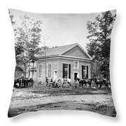 Civil War: Bethel Church Throw Pillow by Granger
