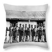 Civil War: Black Troops Throw Pillow
