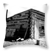 Civil War Cabin 1 Army Heritage Education Center Throw Pillow